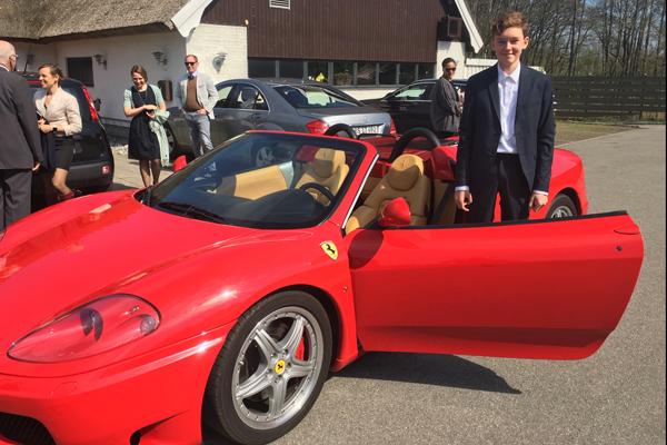 Konfirmationskørsel Ferrari 430