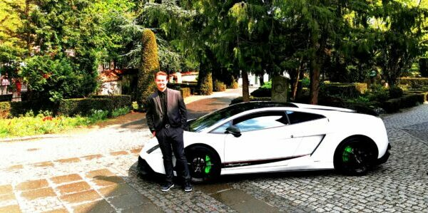 Konfirmationskørsel Lamborghini